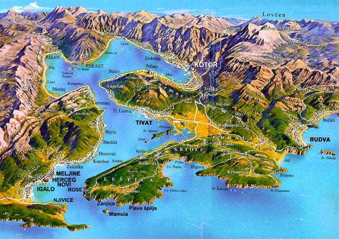 obala crne gore mapa PRVI REZULTATI POPISA STANOVNIŠTVA   TIVAT 307 STANOVNIKA PO KM2  obala crne gore mapa